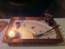 this is a homemade miniature zen garden