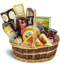 premium gourmet meat cheese basket