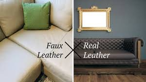 faux leather vs real leather which is