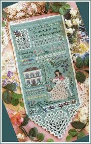stitchers garden sampler by victoria