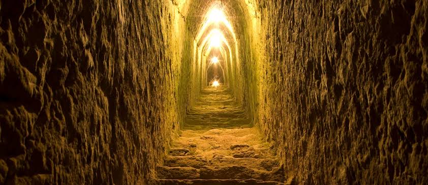 túnel de la pirámide de Cholula