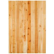 Alta Forest Products 5 8 In X 4 In X 8 Ft Western Red Cedar Flat Top Fence Picket 63018 The Home Depot