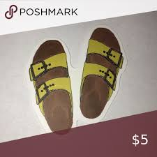 Yellow Birkenstock Sandals Sticker In 2020 Birkenstock Sandals Sandals Birkenstock