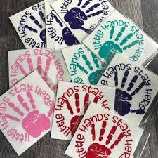 Magnet Hand Print Vinyl Car Decal Little Hands Go Here Etsy
