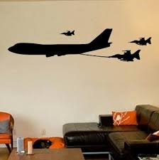 17 Stories Cher Boeing 747 Airplane Tanker Jet Refueling Fighter Jets Vinyl Wall Decal Wayfair