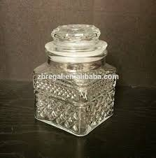 vintage clear glass canisters with lids