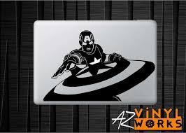 Captain America Shield Throw Vinyl Decal For Mac Azvinylworks