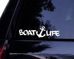 Boat Life Decal Etsy