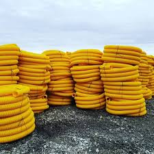 """8-Slot Premium Yellow Pipe 4""""x100' Roll + 4oz Filter Fabric 5'x100' 
