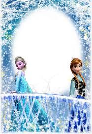 Resultado De Imagen Para Marco De Fotos De Frozen Invitaciones