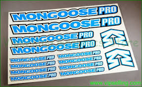 Mongoose Pro Bmx Bike Frame Fork Cycle Decals Stickers Set Bmx Bike Frames Bike Frame Sticker Set