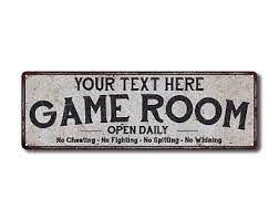 Game Room Sign Etsy