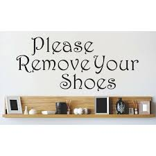 Please Remove Your Shoes Decal Wayfair