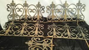 Vintage Cast Iron Garden Edging Border Fence Fleur De Lis Victorian 5 Pieces 1918581698