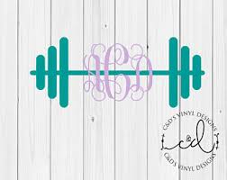 Barbell Car Decal Etsy