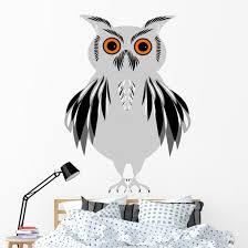 Grey Owl Wall Decal Wallmonkeys Com