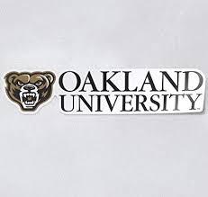 Amazon Com Oakland University Golden Grizzlies Premium Collegiate Car Decal Arts Crafts Sewing