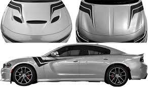 Dodge Charger Hood To Fender Z Stripes Vinyl Decal Graphic Striping Kit Fits Years 2015 2016 2017 2018 2019 2020 2021