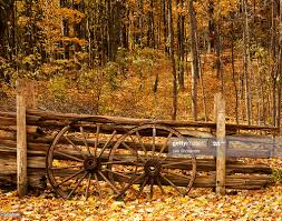 Wagon Wheel Fence High Res Stock Photo Getty Images