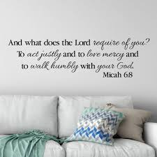 Micah 6 8 Wall Decal Vinyl Wall Lettering Vinyl Decal Etsy