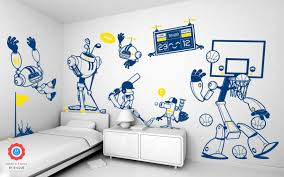 Us Footballer 1 Wall Decal Baby Kids Wall Decals E Glue Children Room Wall Decor