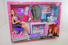 barbie sparkle style salon doll and