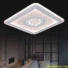 Đèn led mâm ốp trần hình vuông trang trí phòng khách 017E