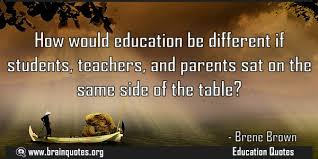 how would education be different if all sat on the same side of