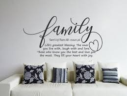 Family Definition Wall Decal Family Wall Art Family Sign Family Wall Decor Family Quote Family Rules Living Room Decal