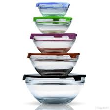 mixing bowls glass food storage