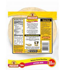 super size yellow corn tortillas