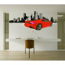 Shop Sport Car Polygonal Wall Decal Street Racing Polygon Modern Wall Art Sticker Lamborghini Overstock 31794248