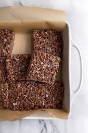 chocolate rice krispies treats for two