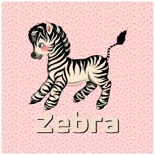 Baby Zebra Kids Room Wall Decal At Retro Planet
