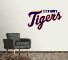 Detroit Tigers Wall Decal Logo Baseball Mlb Art Decor Sticker Vinyl Large Sr24 Ebay