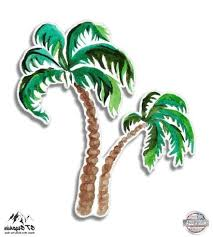 Palm Trees Watercolor 3 Vinyl Sticker