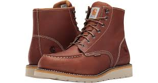 6 inch tan waterproof wedge boot