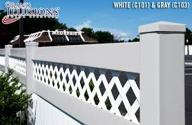 Lattice Top T G Fence Panels