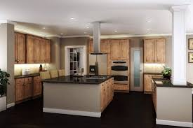 Pin by Wendi Meyer on Dream Home | Hickory cabinets, Hickory kitchen  cabinets, Kitchen design