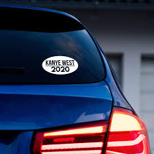 Amazon Com Kanye West For Republican Presidential Candidate 20 Elections Vinyl Decal Car Bumper Reflective Sign Sticker 2020 Designs Oval Kitchen Dining