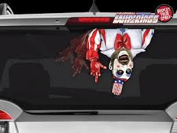 Captain Spaulding Sid Haig Waving Arm Wiper Wipertag Decal Sticker Attach To Rear Vehicle Wiper Wipertags