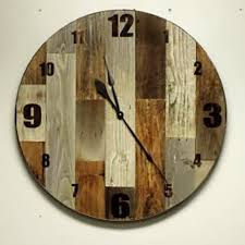 reclaimed wood large rustic wall clock