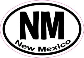 3in X 2in Oval Nm New Mexico Sticker Vinyl Car Window State Bumper Decal Stickertalk