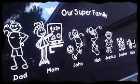Stick Man Custom Family Name S And Surname Car Van Window Body Decal Sticker Home Garden Children S Bedroom Words Phrases Decals Stickers Vinyl Art Ayianapatriathlon Com