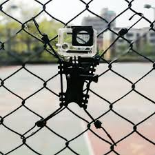 Action Camera Fence Mount Holder Record School Training And Outdoor Sports Game Ebay