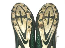 Byron Bullough Michigan State Spartans Game Worn & Signed White & Green  Nike Alpha Cleats - Big Dawg Possessions