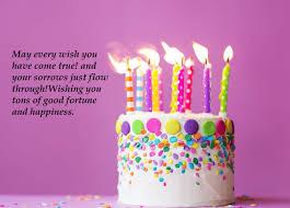birthday cake wishes for best friend