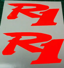 Yamaha Vinyl Sticker Chrome Logo Yzf R1 Mt Decal Motorcycle Wsb Moto Gp X 2