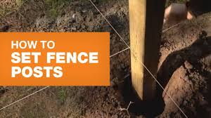Installing Fence Posts Youtube
