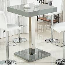 topaz glass top bar table in grey high